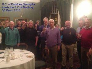 Dumfries Devorgilla toast to modbury 300315